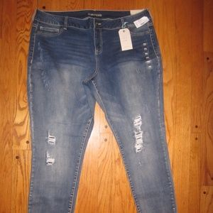 NWT MAURICES JEGGING JEANS XXL-S 20 SHORT WOMENS